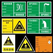 危险废物存贮场所污水排放口废气排放口噪声排放源环保标志标识牌