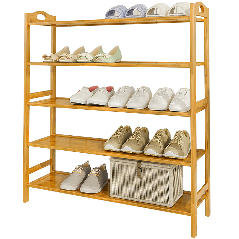 鞋架简易家用省空间经济型实木多功能家里人多层门口小鞋柜置物架