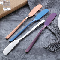 304 stainless steel butter knife jam knife butter trowel thickening rag knife spatula cream knife western knives