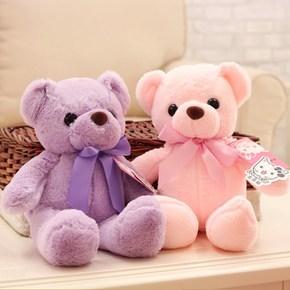 粉红色小熊毛绒玩具小号布娃娃泰迪熊公仔抱抱熊女孩生日礼物思念