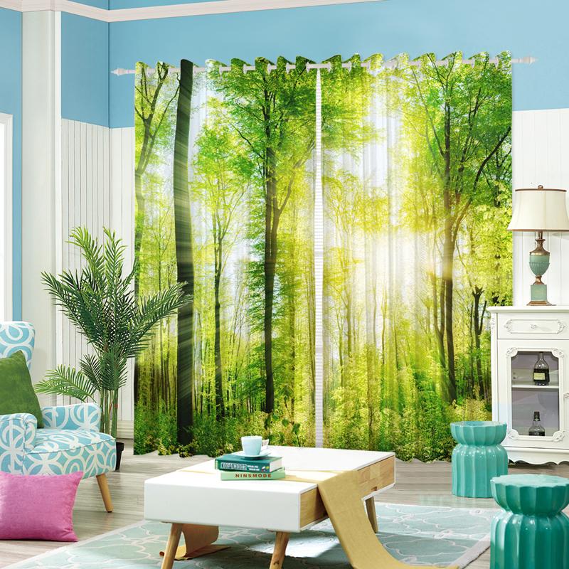 風景窗簾客廳