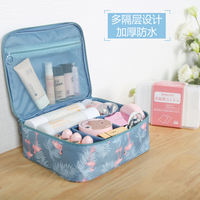 Ins net red cosmetic bag small portable Korean simple large-capacity cosmetic bag girl heart wash product storage box