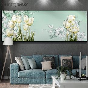 大型客厅装饰画沙发背景墙壁画3D立体浮雕画简欧现代无框挂画花卉