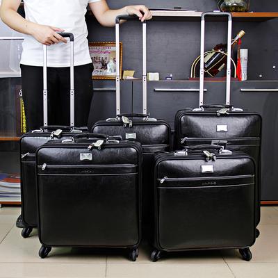 品牌真皮拉杆箱男士皮箱行李箱女可爱万向轮20寸登机箱旅行箱复古