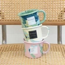 EDITOR01土耳其BORNN马克杯大理石纹咖啡杯珐琅水杯创意小众现货