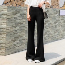Summer 2019 thin micro bell trousers women high waist leisure Korean version shows a slim sense of dragging long trousers children large size