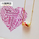 Gold Transfer Beads 3D Hard Gold Foot Gold 999 Painted Color Candy Sweet Road Lutong Female Gold Pendant