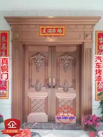 珠海包安装工厂定做纯铜防盗子母新品别墅大门双开庭院对开铜门图片