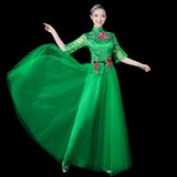Modern dance costumes female adult youth fashion dance costume new pettiskirt performance clothing square dance set