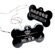 Pet custom dog tag tag cat identity card puppy dog ​​bell necklace Teddy collar brand name jewelry
