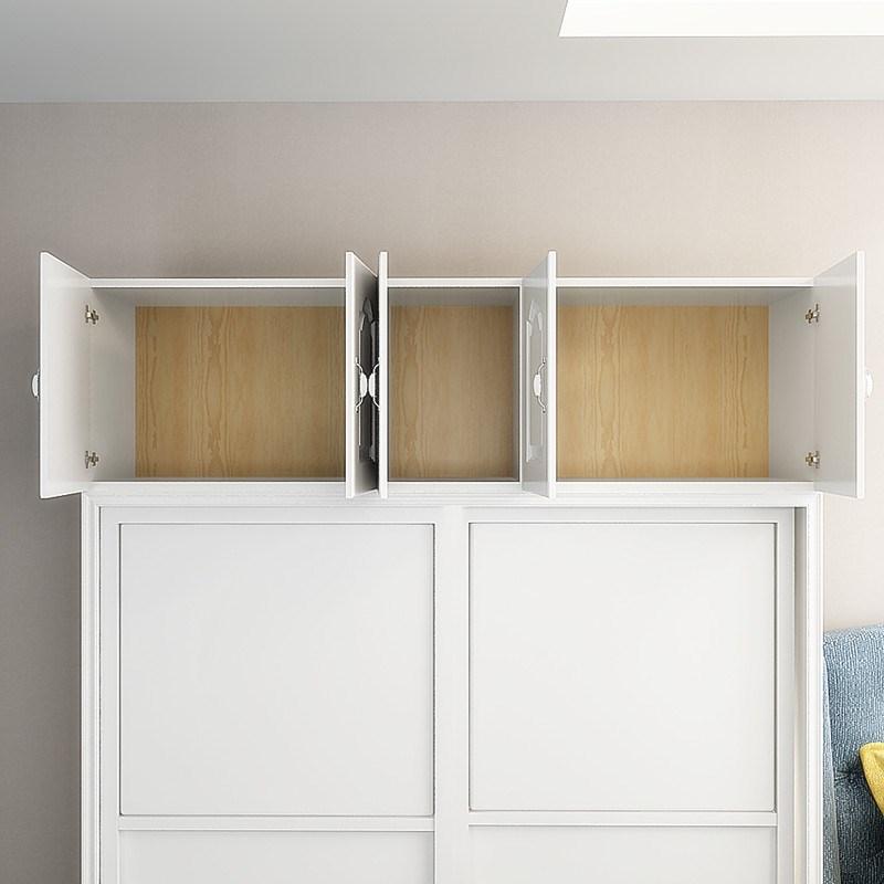 加高顶柜红木色衣柜顶柜飘窗柜储物柜收纳矮柜组合顶箱柜阳台柜