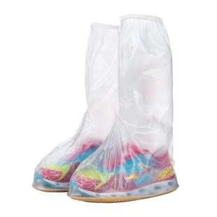 高筒雨鞋套儿童高位防水防雨鞋套女学生防水防滑加厚耐磨下雨天诽