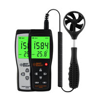 Wind gauge anemometer handheld high precision thermal anemometer air volume tester AS836 wind speed measuring instrument