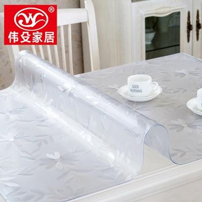 铺在桌子上的布垫子PVC防水防烫桌布软质玻璃透明餐桌布塑料桌垫哪个好