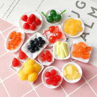 Mini Simulation Fruit Cream Clay Food Play Cake Decoration Cherry Pineapple Blueberry Manual diy Accessories