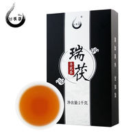 Black Tea Hunan Anhua Ganjiao Qingrui Hand Building Brick Tea 1kg Golden Flower Black Tea Anhua Black Tea Authentic