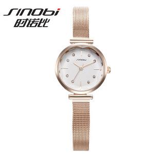 图片:新款韩版时尚小清新手表 女款钢带石英表女士手表微商 Sinobi9643