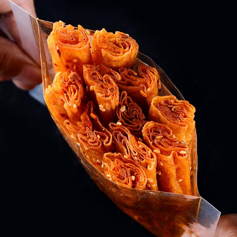 湖南特产辣条小吃重庆麻辣网红零食儿时怀旧豆皮豆干魔鬼变态辣片图片