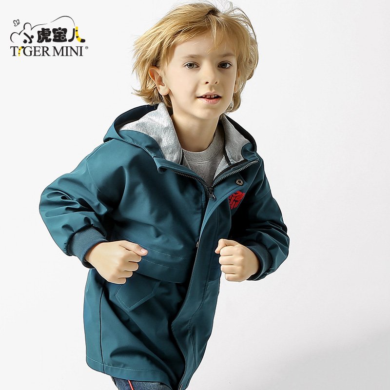 男童装外套中大童2019秋装新款夹克上衣中长款儿童风衣韩版防风潮