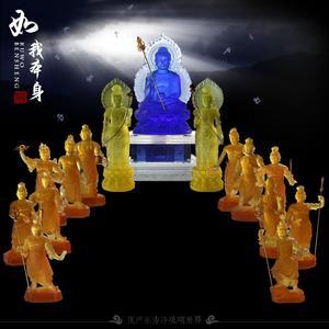 琉璃药师坛城 药师琉璃光如来 日光月光菩萨 十二神将 琉璃佛像