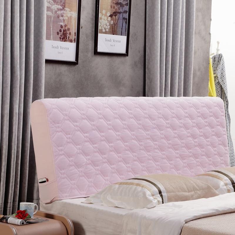 扇形床头罩欧式弧度隔灰尘床单件布料少女保暖清新1.8米盖弧形