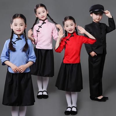 民国风学生装儿童复古装服装演出服女童五四服男童毕业班校服