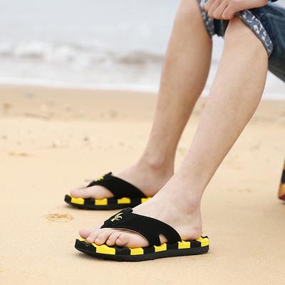 男生室内室外防滑沙滩鞋 男大码 乐睦夏季人字拖男士 男潮凉拖鞋 拖鞋