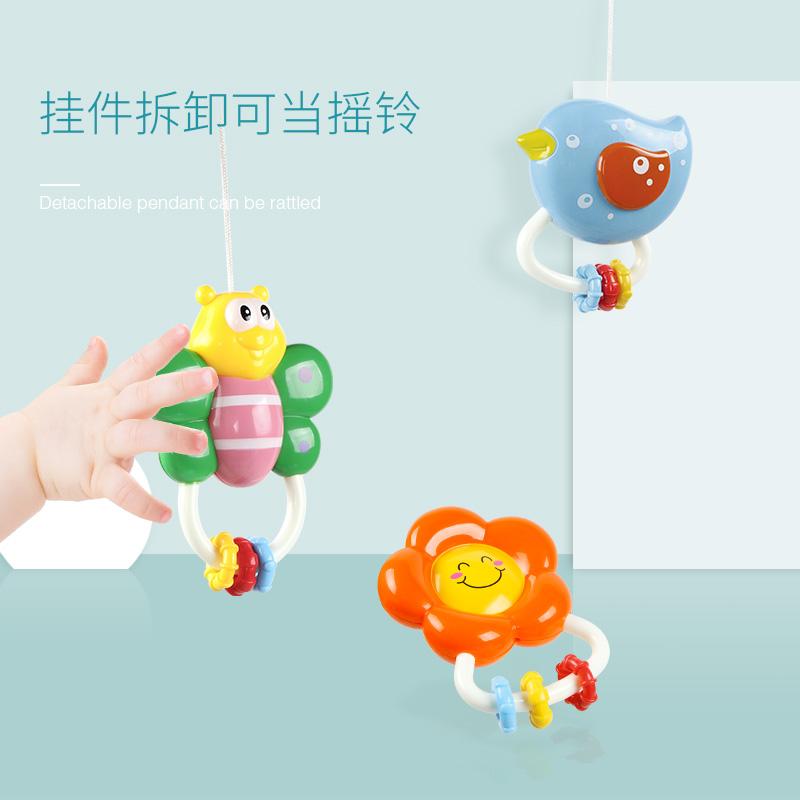 新生儿床铃3-6-12个月宝宝音乐旋转摇铃0-1岁婴儿玩具益智床头铃