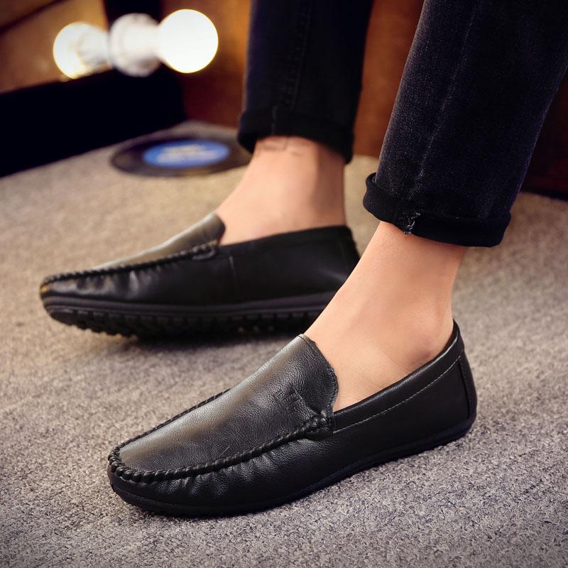 男款潮鞋豆豆鞋