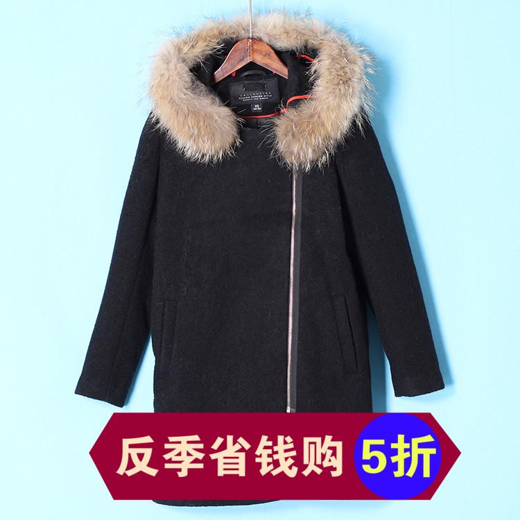 黑色大衣貉子领