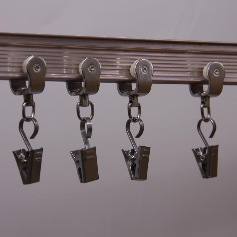 窗帘夹子特硬加厚强力不锈钢挂钩浴帘夹锯齿夹金属夹子小夹子包邮