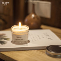 FEVON Fenfan smokeless portable essential oil scented candle glass to help clean air bedroom to smell
