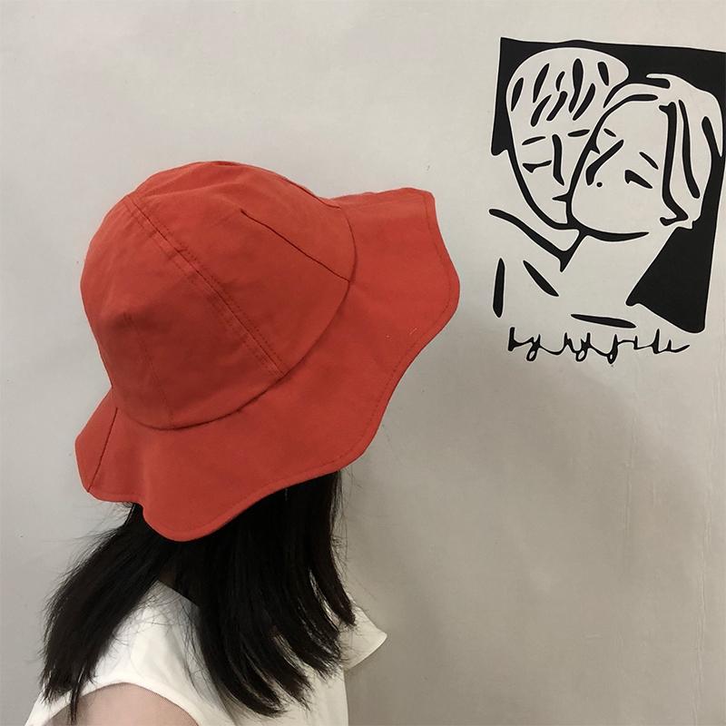 渔夫帽女夏百搭韩版潮防晒遮阳帽小清新文艺可爱休闲日系学生盆帽