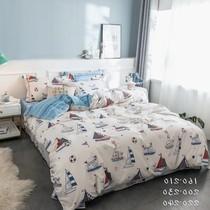 1简约9的/儿童纯棉四件套地中海风格床上用品男孩床品1.2m1.35米