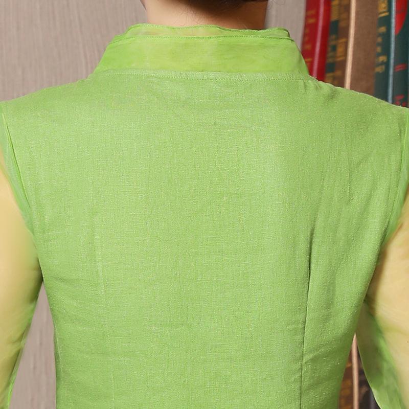 唐装女式上衣短袖时尚2019夏季宽松改良版短款中国风棉麻旗袍上衣