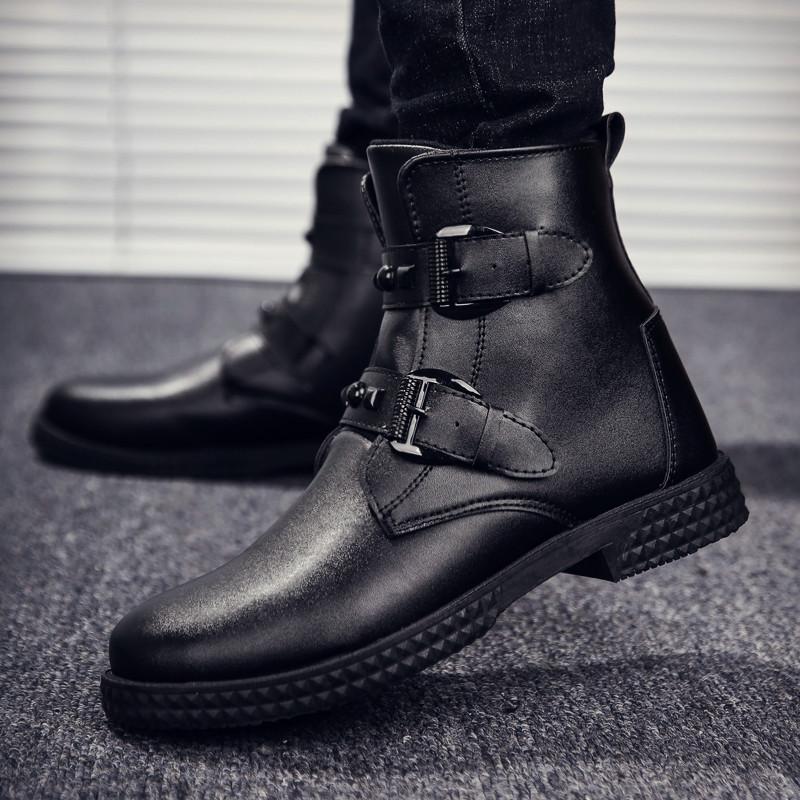 冬靴皮靴铆钉