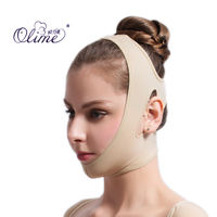 Ou Limei mandibular medical grade liposuction post-molding elastic headgear double chin facial line carved pressure bandage