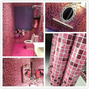 加厚卫生间防水贴纸浴室厨房防油墙纸壁纸自粘厕所瓷砖贴玻璃墙贴