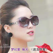 新款女士太阳镜复古潮圆形墨镜可配近视眼镜开车箭头偏光墨镜