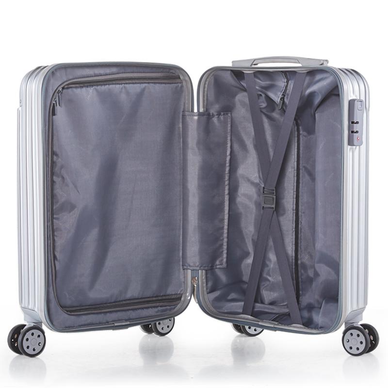 黑沙旅行箱登机箱直角飞机拉杆箱万向轮皮箱超轻行李箱20寸24寸