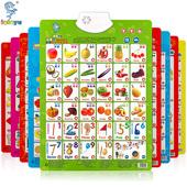 儿童有声挂图启蒙早教发声挂图1-3岁6宝宝识字卡语音墙贴益智玩具