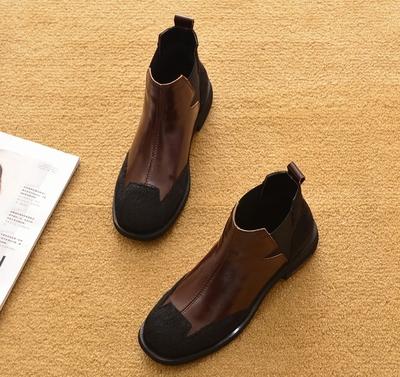 2019新款春秋平跟短靴平底单靴马丁靴短筒踝靴雪地靴马毛鞋女靴子