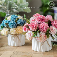 Small fresh simulation fake bouquet living room decoration decorative table vase potted home indoor coffee table decoration plastic