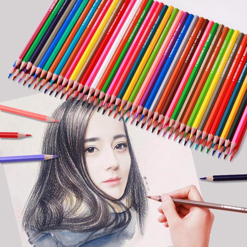 晨光彩色铅笔水溶性彩铅画笔彩笔专业画画套装手绘成人72色初学者36色学生用48色绘画水溶款彩铅笔儿童油24色