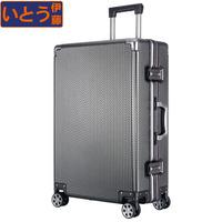 伊藤铝框拉杆箱万向轮PC旅行箱男登机箱子20寸密码行李箱女24寸28