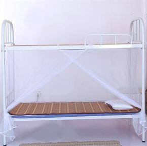 学校宿舍床上下铺蚊帐老式方顶1.0米寝室用单人床大学生用品