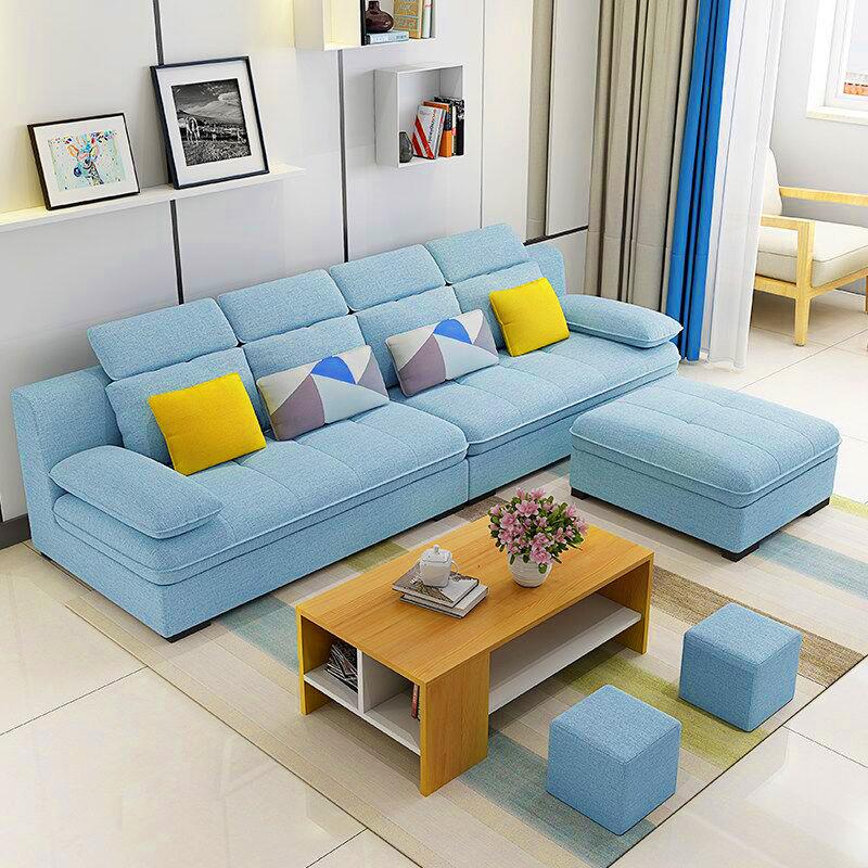 型转角布沙发