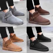 冬季雪地靴男士短靴棉靴韩版潮流鞋情侣加绒保暖棉鞋马丁鞋男靴子