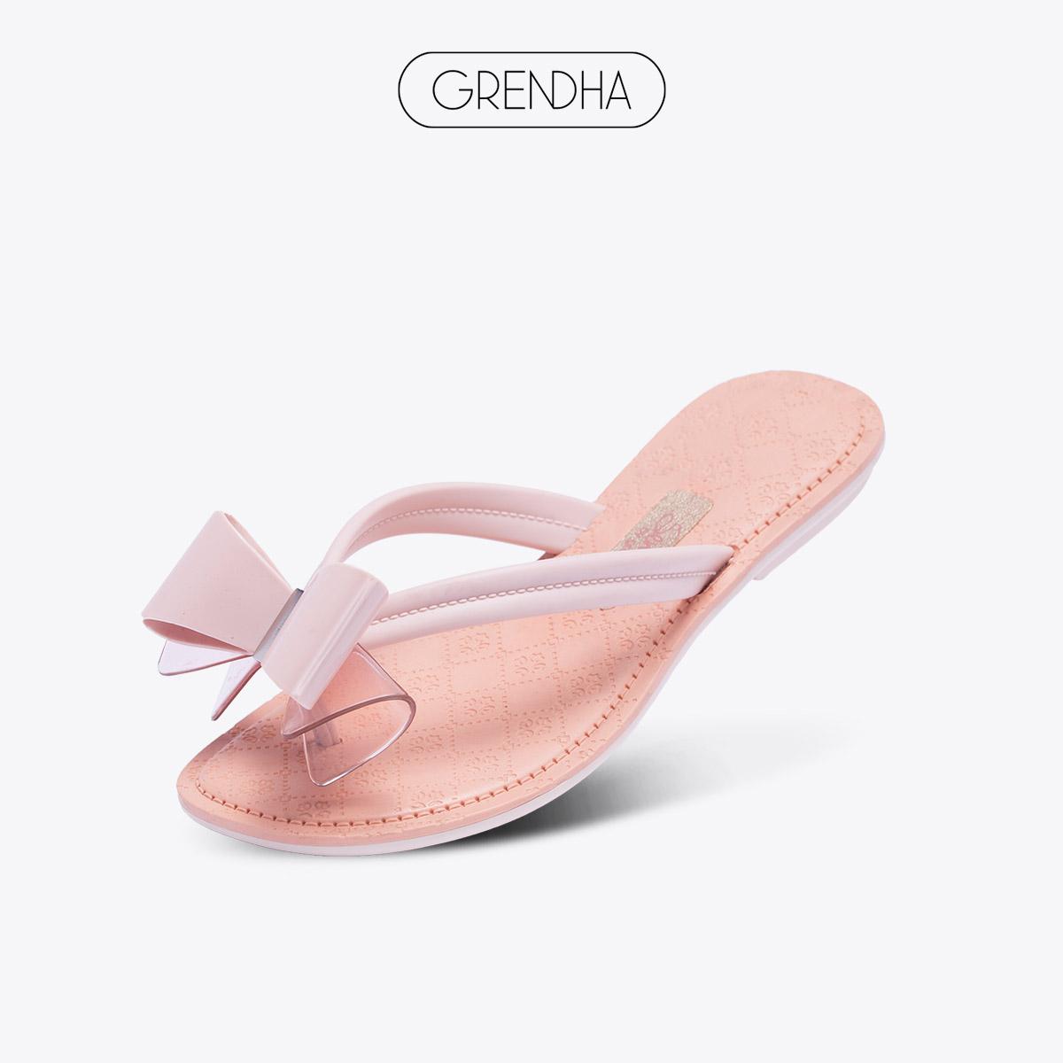 【特价】grendha感官系列进口蝴蝶结中童人字拖淑女气质女童拖鞋