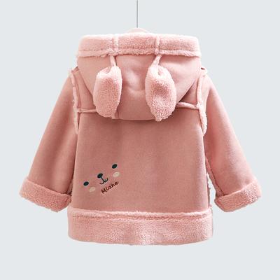 女童秋装2018新款仿鹿皮绒儿童外套1-3岁女宝宝洋气加厚公主风衣